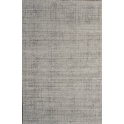 Hyannis Hand Woven Wool Silver Area Rug Rug Size: 5 x 8