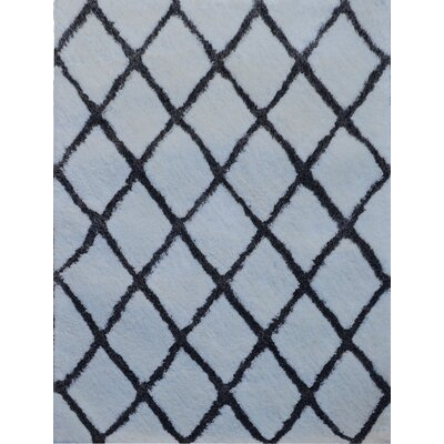 Gallant Handmade Shag White/Gray Area Rug Size: Rectangle 89 x 119