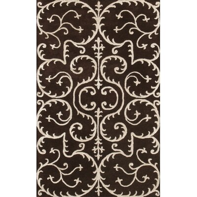 Amber Brown & Beige Area Rug Rug Size: 5 x 8