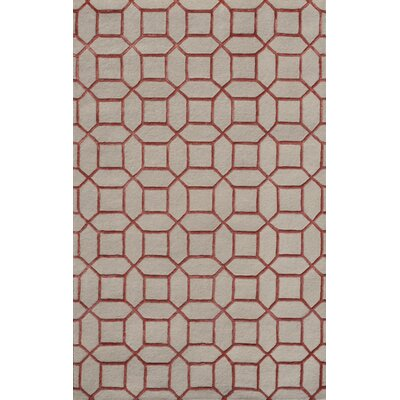 Indigo Cream/Pink Area Rug Rug Size: 5 x 8