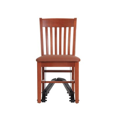 Mobility Assist Upholstered Dining Chair Finish: Cherry