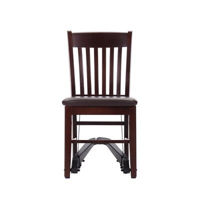 Mobility Assist Upholstered Dining Chair Finish: Mahogany