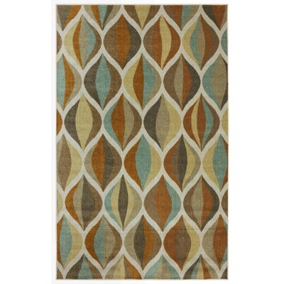 New Wave Taupe Ornamental Ogee Area Rug Rug Size: 5' x 8'