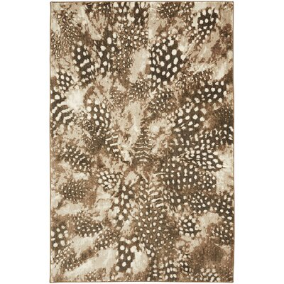 Reflections Bob Timberlake Salem Feathers Brown Area Rug Rug Size: 5'3