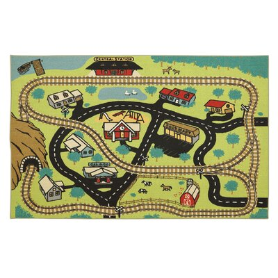 Loop Print Base Central Station Play Area Rug