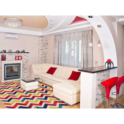 Multi Mixed Chevrons Prism Area Rug Rug Size: 5 x 8