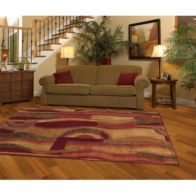 Jeanie Wine Area Rug Rug Size: Runner 2 x 8