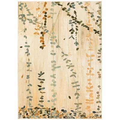 Ayers Village Trailing Vines Beige Area Rug Rug Size: Rectangle 5 x 8
