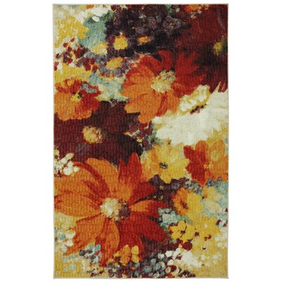 Connexus Catherine Floral Orange/Red Area Rug