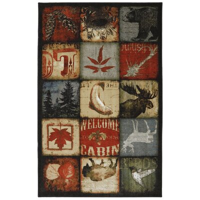 Sanger Lodge Patches Area Rug Rug Size: 5 x 8