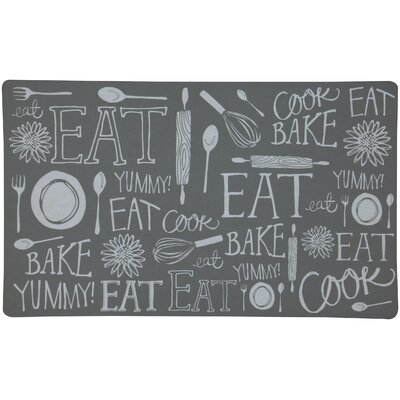 Hand-Lettered Kitchen Mat