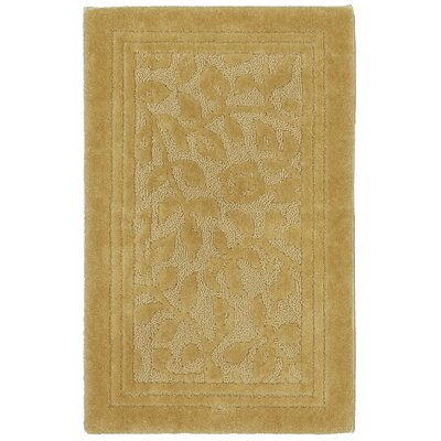 Wellington Bath Rug Size: 50 L x 30 W, Color: Gold