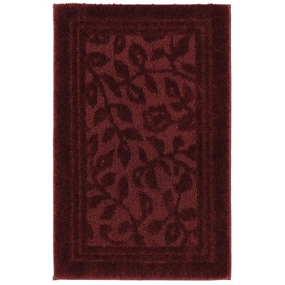 Wellington Bath Rug Size: 30 W x50 L , Color: Claret