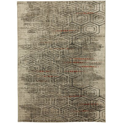 Metropolitan Jemma Taupe/Ivory Area Rug Rug Size: Rectangle 53 x 710
