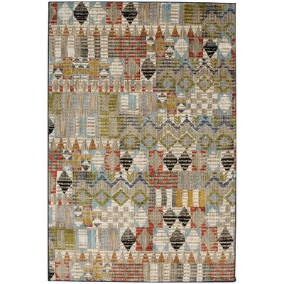 Metropolitan Massey Tan/Red Area Rug Rug Size: Rectangle 8 x 11
