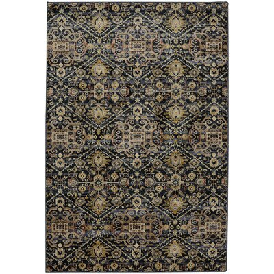 Savannah Ellis Blue Slate Area Rug Rug Size: Rectangle 53 x 710