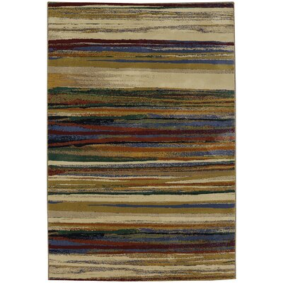Savannah Brown/Beige Area Rug Rug Size: 37 x 5