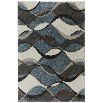 Huxley Delta Brown/Blue Area Rug