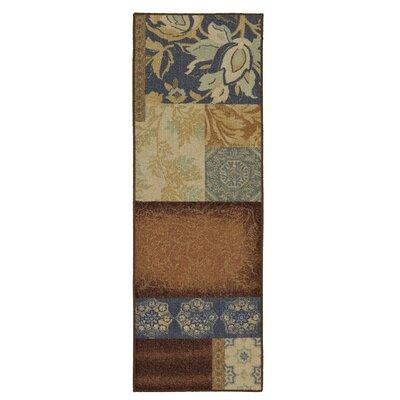 Soho Gwendolyn Blue/Brown Area Rug Rug Size: Runner 18 x 5