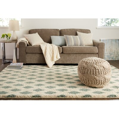 Norvell Beige/Green Area Rug Rug Size: Rectangle 5 x 8