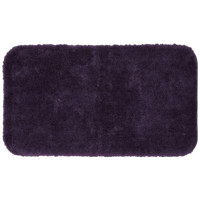 Lounger Bath Rug Size: 24 W x 39 L , Color: Black Plum