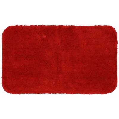 Lounger Bath Rug Size: 17 W x 32 L, Color: Red