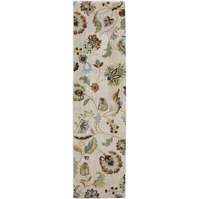 Serenity Butter Pecan Floral Rug Rug Size: Runner 21 x 710
