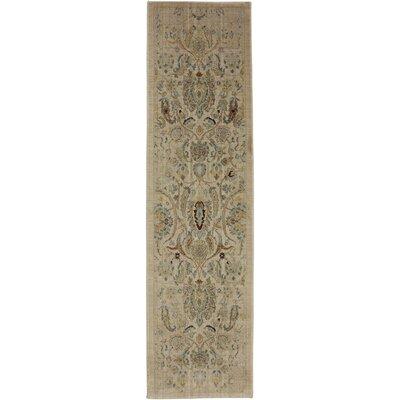 Serenity Sentiment Butter Pecan Floral Rug Rug Size: Runner 21 x 710