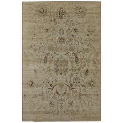 Serenity Sentiment Butter Pecan Floral Rug Rug Size: 36 x 56