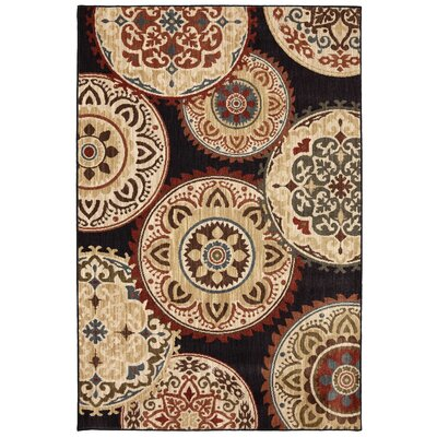 Dryden Summit View Ornamental Rug Rug Size: Rectangle 96 x 1211