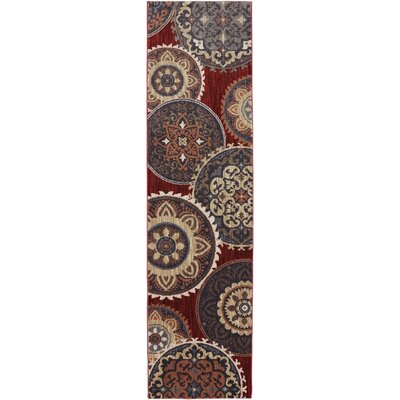 Dryden Summit View Ashen Ornamental Rug Rug Size: Runner 21 x 71