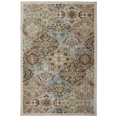 Serenity Peat Moss Ornamental Kirman Coast Rug Rug Size: Rectangle 53 x 710