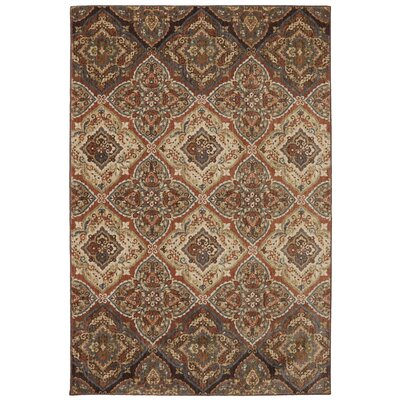 Dryden Latte Ornamental Chapel Rug Rug Size: Rectangle 96 x 1211