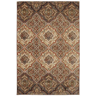 Dryden Latte Ornamental Chapel Rug Rug Size: Rectangle 36 x 56