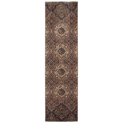 Dryden Latte Ornamental Chapel Rug Rug Size: Runner 21 x 71