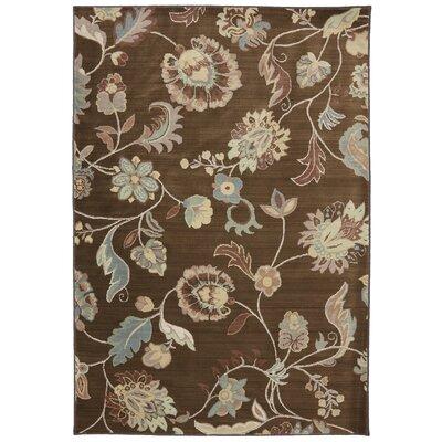 Serenity Bison Floral Sol Star Rug Rug Size: 53 x 710