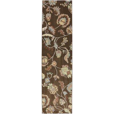 Serenity Bison Floral Sol Star Rug Rug Size: Runner 21 x 710