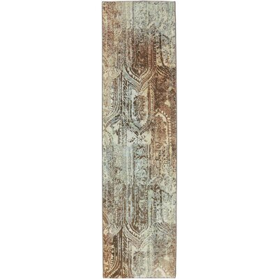 Serenity Winter Mist Ornamental Bon Adventure Rug Rug Size: Runner 21 x 710