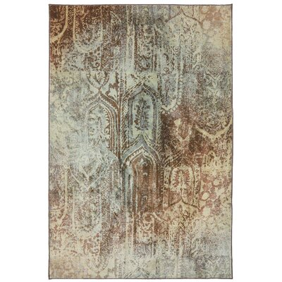Serenity Winter Mist Ornamental Bon Adventure Rug Rug Size: 53 x 710