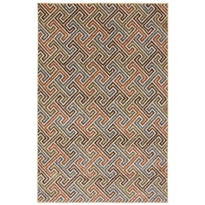 Dryden Muslin Geometric Urban Planner Rug Rug Size: Rectangle 53 x 710