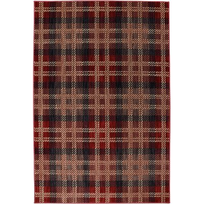 Dryden Billings Crimson Area Rug Rug Size: Rectangle 53 x 79