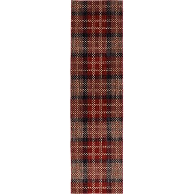 Dryden Billings Crimson Area Rug Rug Size: Runner 21 x 79