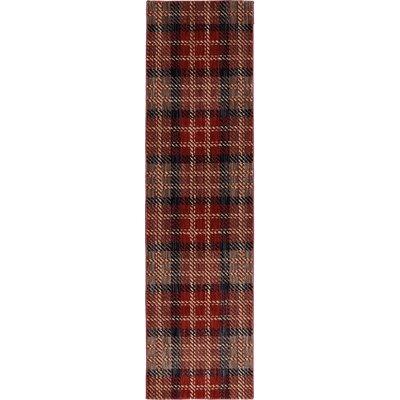 Dryden Billings Crimson Area Rug Rug Size: Runner 21 x 79