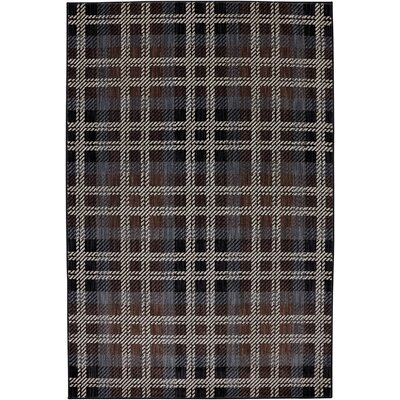 Dryden Billings Black Area Rug Rug Size: 53 x 79