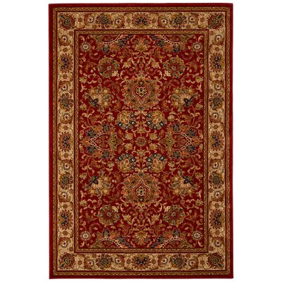 Davenport Newport Tomatillo Red Area Rug Rug Size: 67 x 98