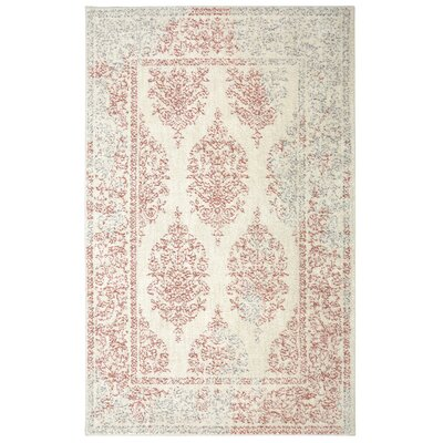 Berkshire Paxton Coral/Beige Area Rug Rug Size: Rectangle 5 x 8