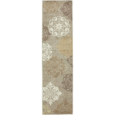 Madison Dark Beige Ornamental Open Vista Rug Rug Size: Runner 21 x 710