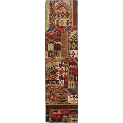 Madison Bark Brown Patchwork Louis and Clark Bark Rug Rug Size: 53 x 710