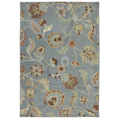 Serenity Slate Floral Sol Star Rug Rug Size: 3'6