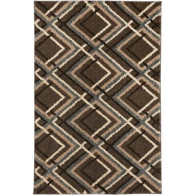 Augusta Browning Avenue Brown Area Rug Rug Size: 5 x 8